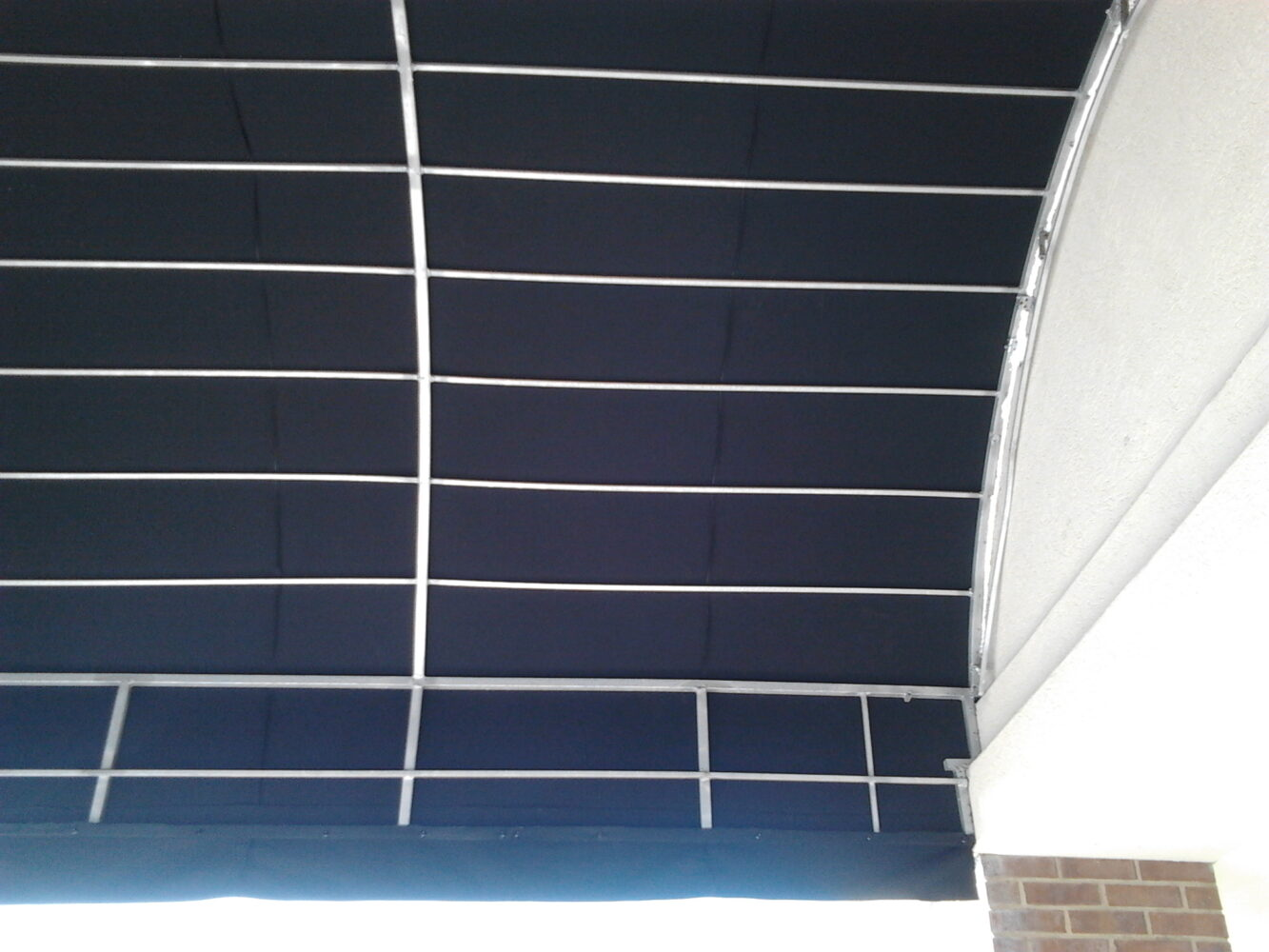 Half Barrel Custom Fabricated Aluminum Awning