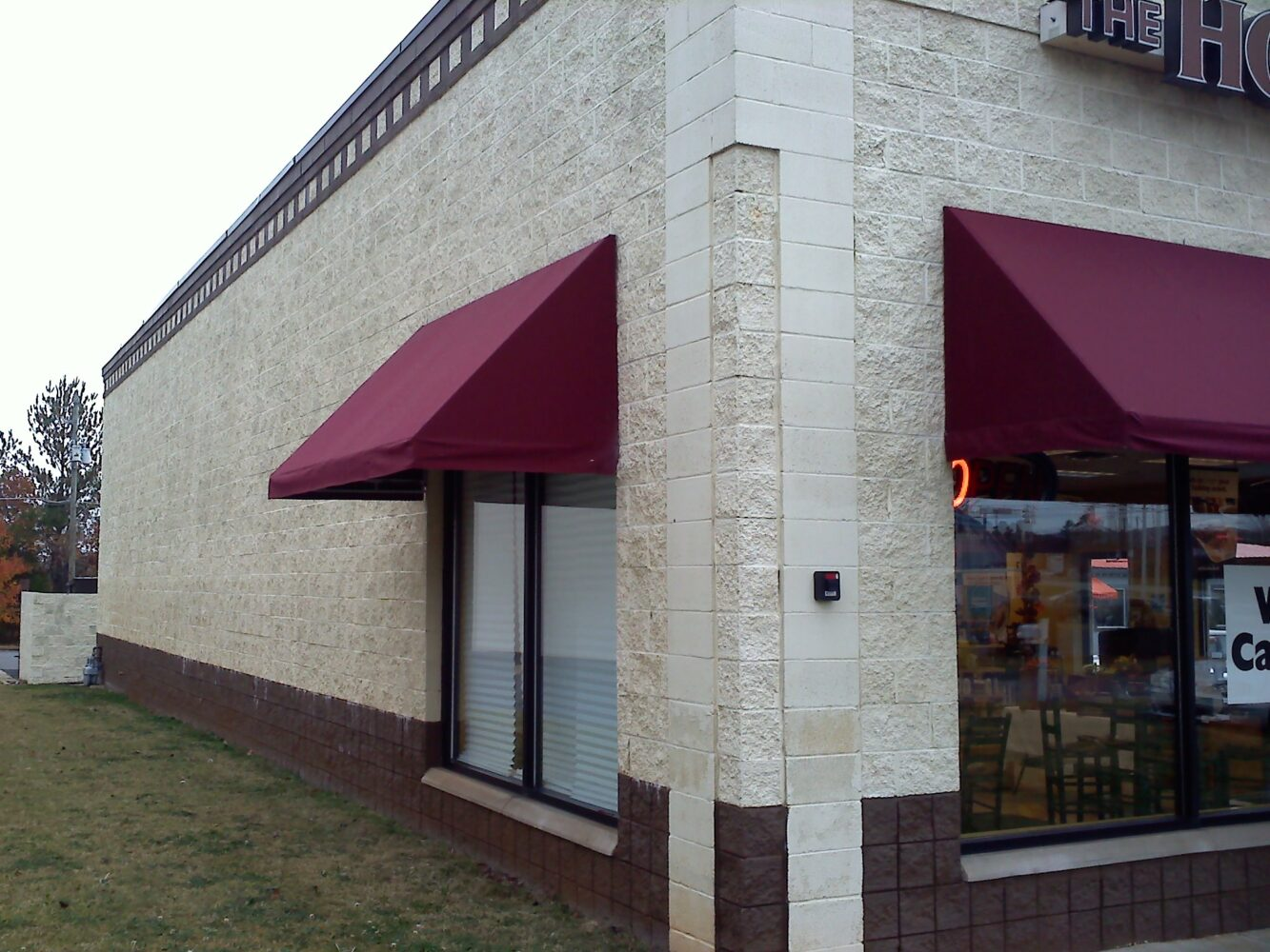 Custom Awning, Sunbrella Canvas