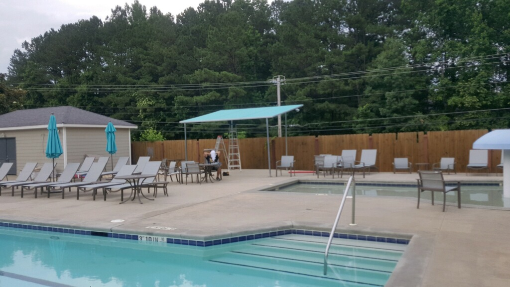 Brookstone Country Club Custom Pool Shade, Patio 500