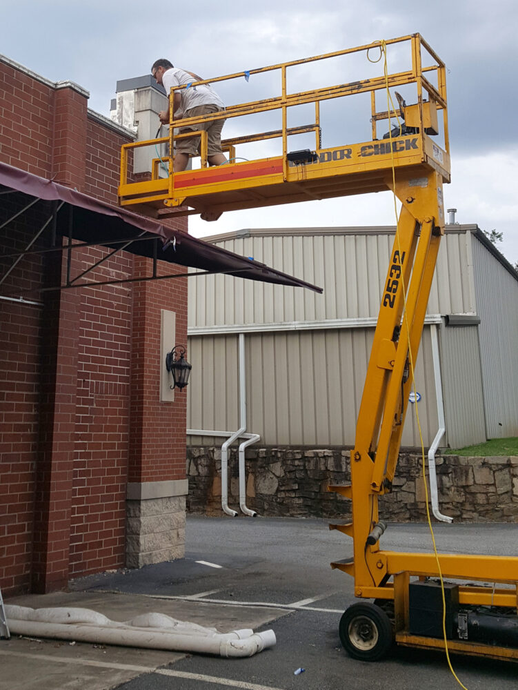 Articulating Scissor Lift, Affordable Awnings Atlanta Georgia