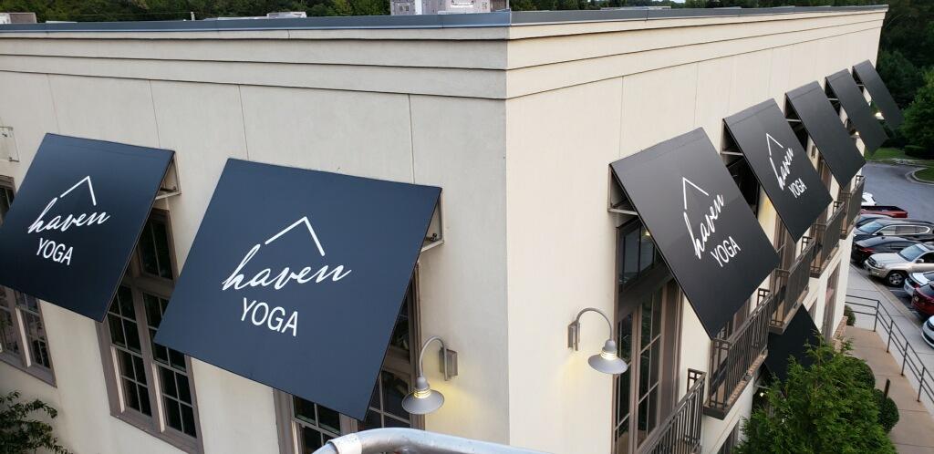 Haven Yoga Custom Awning | Atlanta, Georgia